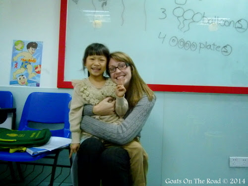 Dariece and a student. From 7 Ways To Save $10,000 Teaching English In China