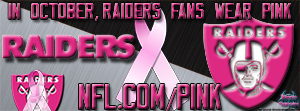 Oakland Raiders Breast Cancer Awareness