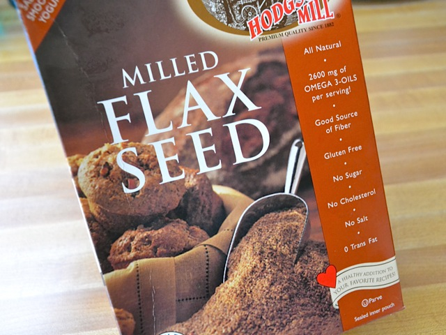 flax seed meal in package
