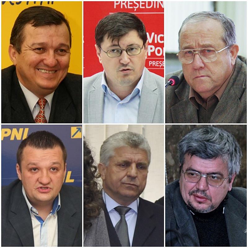 Vasile Mocanu, Tiberius Brădățan, Eugen Girigan, Andrei Păduraru, Geniloni Sfeclă, Corneliu Vornicu