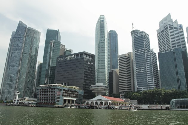 Singapore skyline as seen during the boat cruise