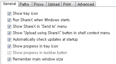 ShareX Application settings - General