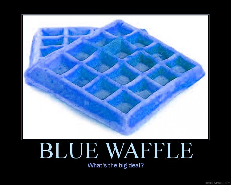motivational posters  blue waffle
