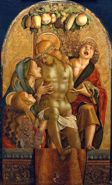 Carlo Crivelli - Lamentation over the Dead Christ