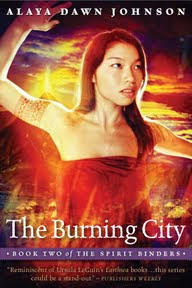 Cover of my novel The Burning City