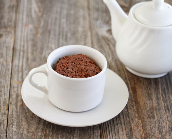 photo of a chocolate espresso mug cake