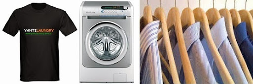 Gambar Baju mesin cuci dan gantungan baju