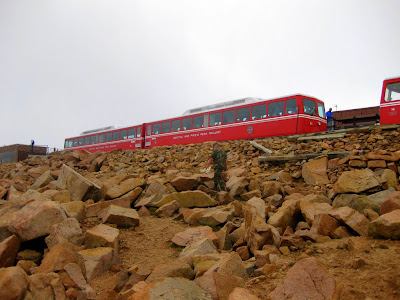 Manitou and Pike's Peak Railway, Pikes Peak Summit 14,115 FT, Pike National Forest, Cascade, Colorado 7/28/1123