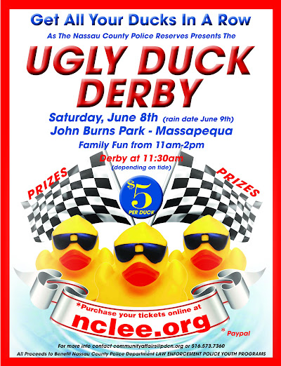 Saturday June 8th  (rain date June 9) at John Burns Park - Massapequa  Family Fun from 11am-2pm - Derby at 1130am (depending on tide)  For more info contact communityaffairs@pdcn.org or call (516)573-7360