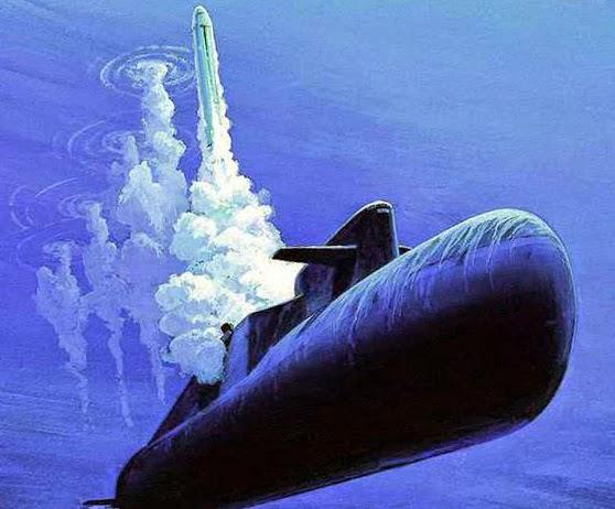 Ядерные ракеты России в море