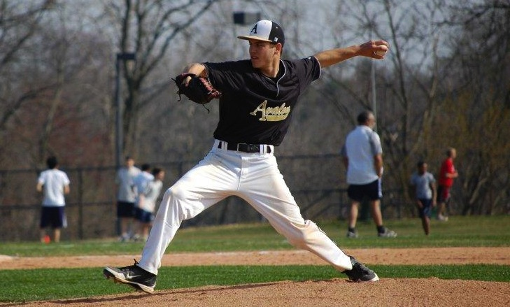 Mike Brunvoll pitches against Gilman School.