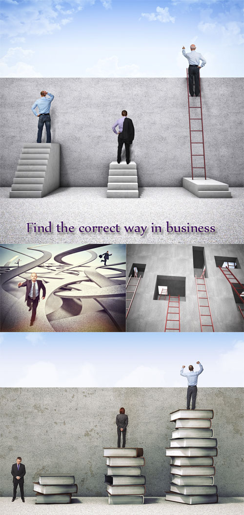 Stock Photo: Find the correct way in business