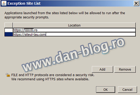 java control panel Your security settings have blocked a self signed application from running
