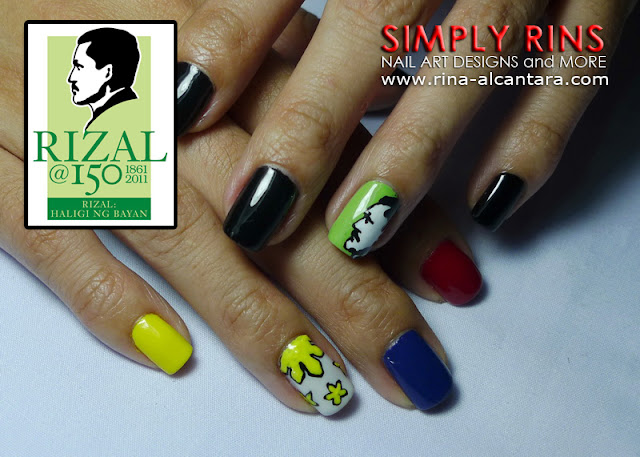 Jose Rizal Nail Art Design 06