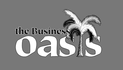business oasis black and white logo