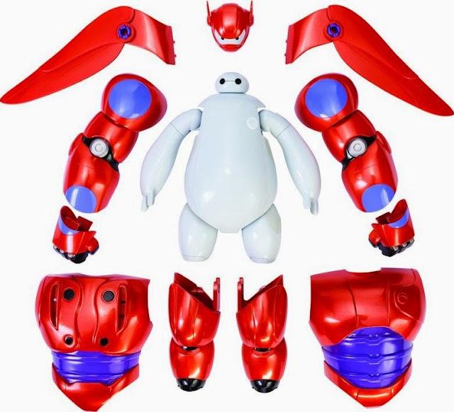 Bộ lắp ráp mô hình Armor Up Baymax Big Hero 6 với các mảnh của trang phục và phụ kiện