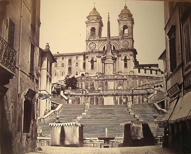 Roma - Trinita dei Monti, By Robert MacPherson (1811-1872)