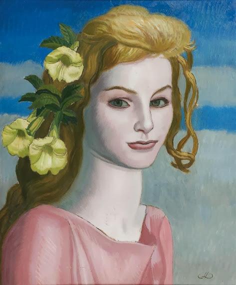 Jean Dupas - Jeunes fille aux fleurs