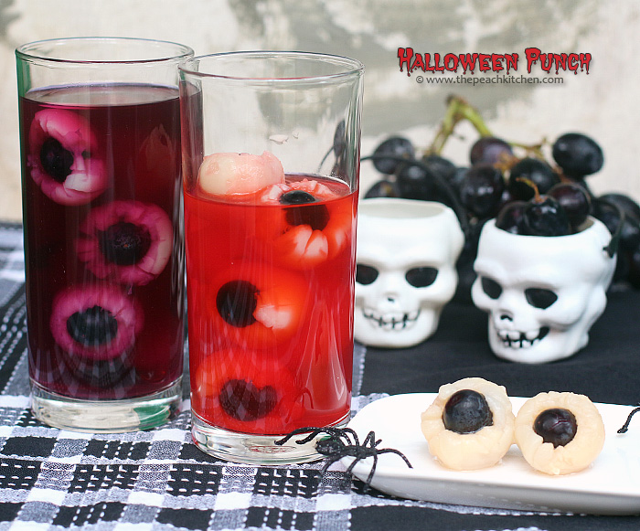 SPOOKY HALLOWEEN PUNCH | www.thepeachkitchen.com