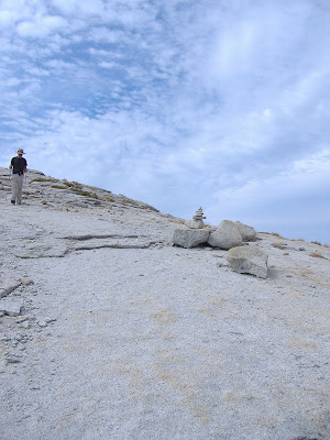 A cairns on the horizon...with unidentified hiker.©http://backpackthesierra.com