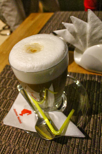 Hot latte in Irkutsk