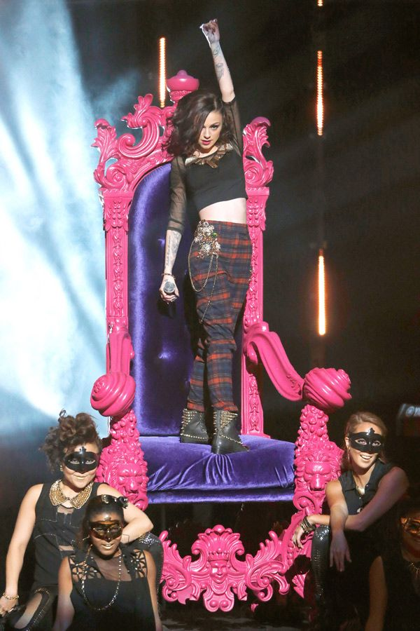 Cher Lloyd performs onstage during the Radio Disney Music Awards at the Nokia Theatre, L.A.