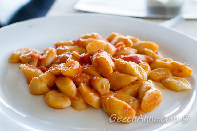 La Kambusa'da yediğimiz gnocci, Sorrento