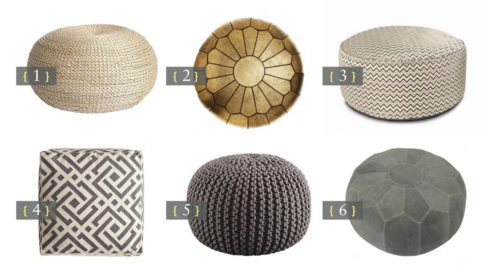 a designer's nest  perfect poufs  -  perfect poufs