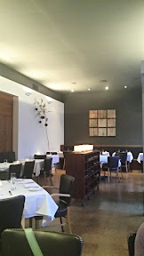 Inside (just when the restaurant opened) of Castagna, one of the top 3 restaurants in Portland