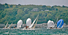 J/80 one-design sailboat- sailing off France
