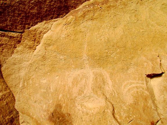 Petroglyph and moki step