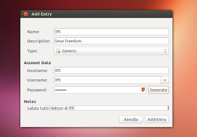 Revelation Password Manager - editor
