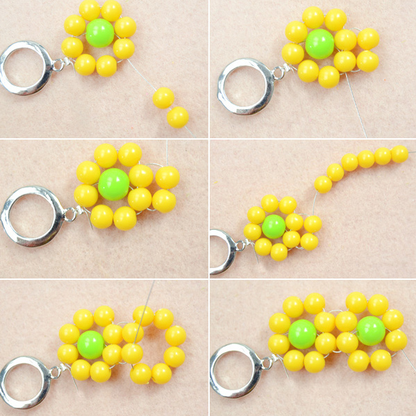 Beaded Yellow Flower Bracelet Project