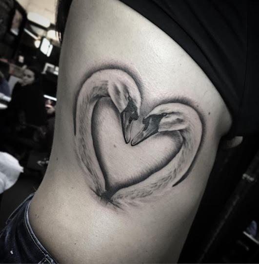 Swans Love tattoo