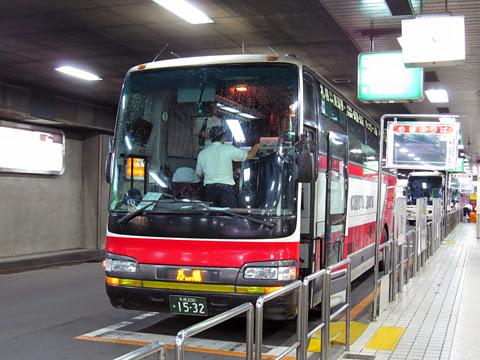 北海道中央バス「イーグルライナー」 1532 札幌駅前ターミナル到着