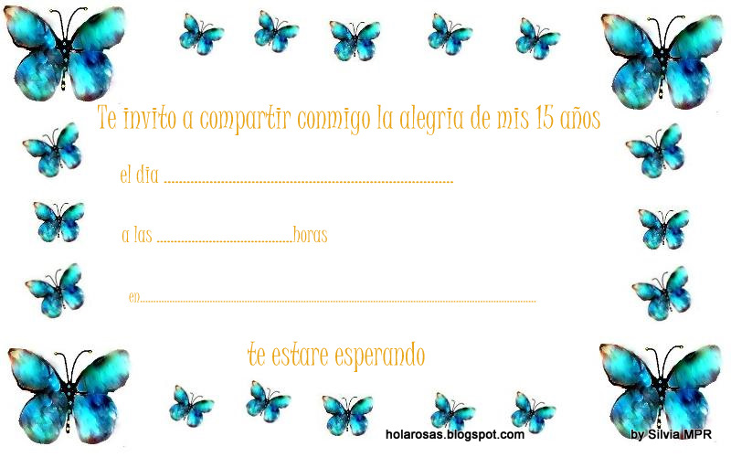 Fondos de mariposas para invitaciónes de 15 años - Imagui