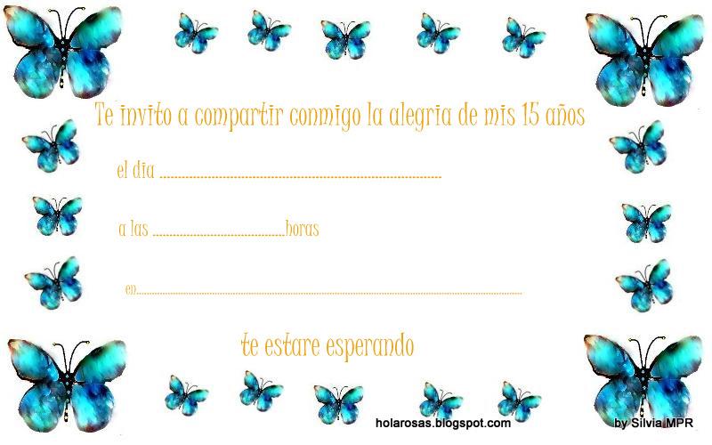 Tarjetas De Plea  Os De 15 Para Impirmir Gratis Mariposas Imagenes