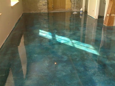 Epoxy Over Stained Concrete