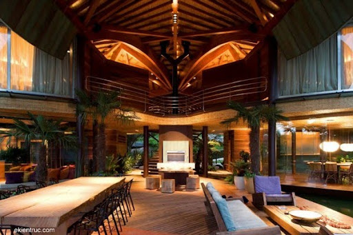 Leaf House 11 6 750x500 Kiến trúc nhà lá thú vị tại Brazil