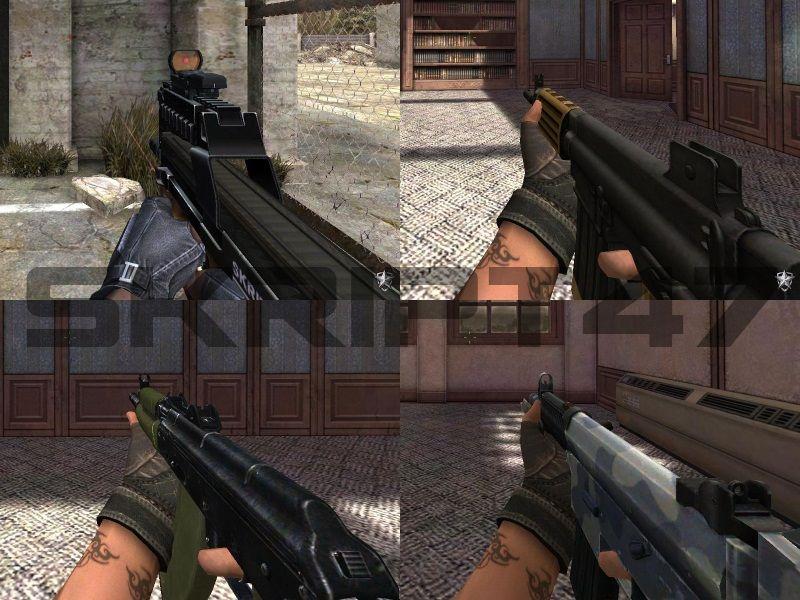 Скриншоты модификации SMG Pack, P90 Wood