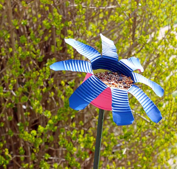 Lata reciclada - flor