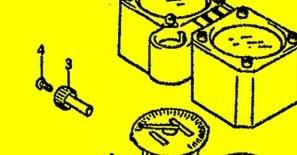 Tachorücksteller Tageskilometer mit Schraube