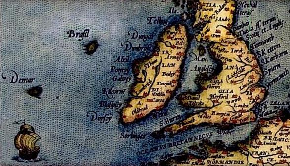 Hy Brazil em mapa de 1572