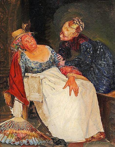 Kristian Zahrtmann - Juliet and the wet-nurse