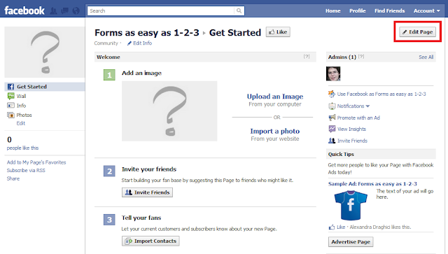 Contact Form on Facebook