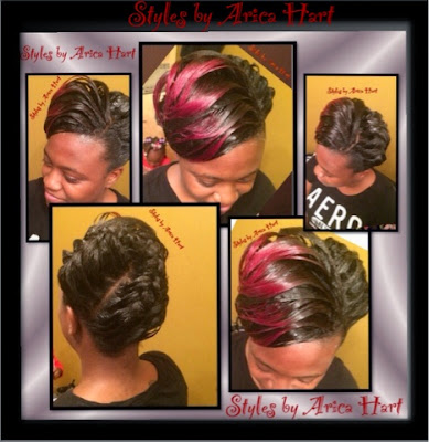 updo hair styles by Arica Hart