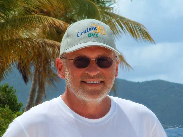 Your's truly, René Fabre, shipmate on the Jorvik, British Virgin Islands 2006.