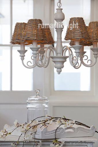 rattan de luxe lampenschirm schirm zum aufstecken 14 x 7x12cm. Black Bedroom Furniture Sets. Home Design Ideas
