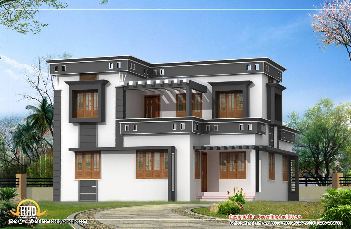 Modern contemporary home design - 1760 Sq. Ft. - Kerala home ...
