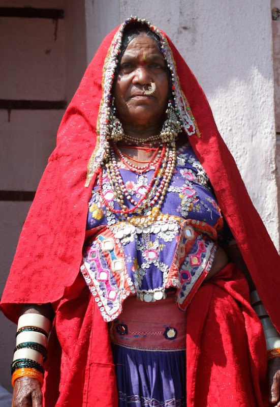 Lamani tribal Woman decked in traditional colourful attire at Dandeli